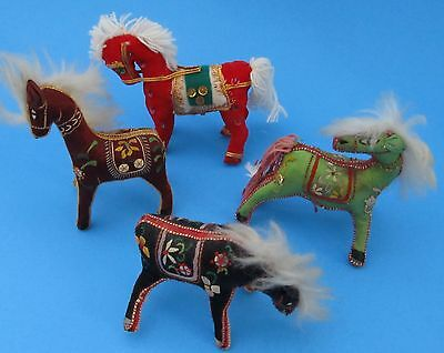 Embroidered Fabric Chinese Horse Set Christmas Ornaments Holiday Decoration