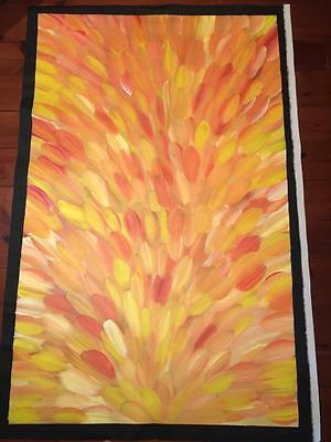 Gloria Petyarre  154cm x 96cm   Awesome Medicine Leaves Painting