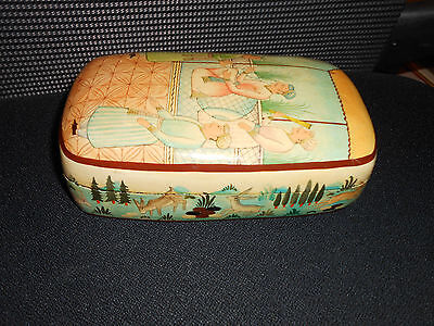 Rare Antique Persian Laquer Box