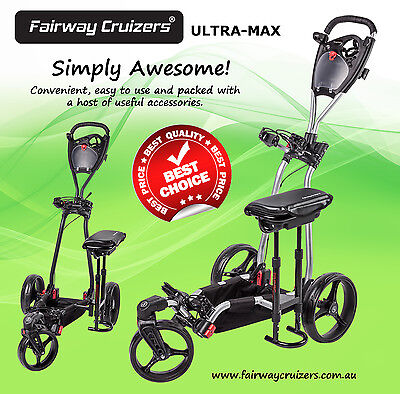 GOLF BUGGY ULTRA-MAX C/W Seat, Suspension, Swivel Front Wheel and more!