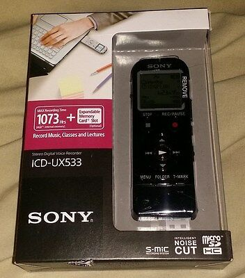 Sony Digital Voice Recorder Icd-Ux533 - 4Gb Sealed!!! Brand New!!!