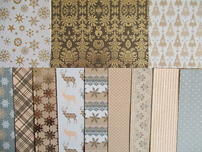 """Sample pack - Magic & Sparkle Christmas 6x6"""" scrapbook backing papers x 12"""