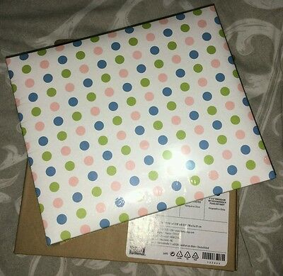 6x6 Polka Dot Scrapbook Album with 30+ Assorted Coloured Papers & Embellishments