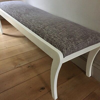 Vintage long hearth stool/window seat/ bench fully refurbished