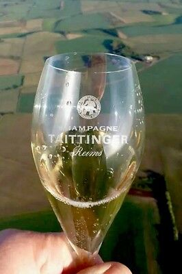 Taittinger Champagne Flutes With Knight Logo  X 2 Glasses Brand New Unused