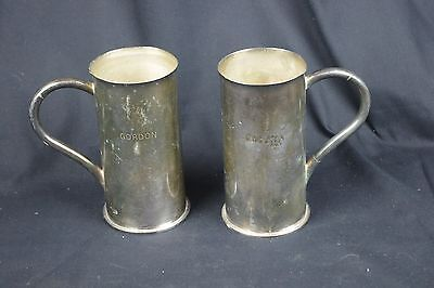 Pair Shell Trench Art Tankards Collectable stock code 3404