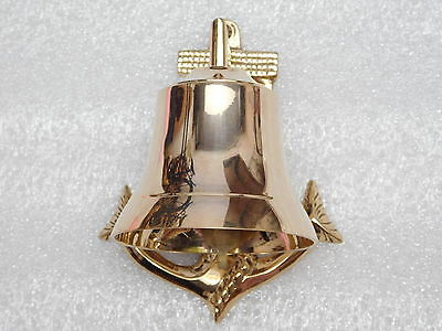 Brass Vintage Nautical Maritime Brass Ship Anchor Bell wall mounted Temple Bell