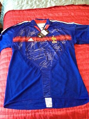 FRANCE sighed LEGENDS 2004 HOME FOOTBALL SHIRT