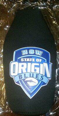 NSW blues state of origin long neck cooler