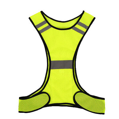 Reflective Vest for Night Work Sport Running Cycling Fluorescent High Visibility