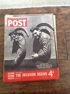 Picture Post Magazine - July 24th 1943 The Invasion Begins
