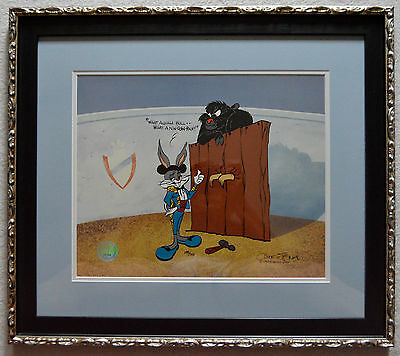 Chuck Jones Bugs And Gulli-Bull Animation Cel Signed #288/750 W/coa Prof Framed