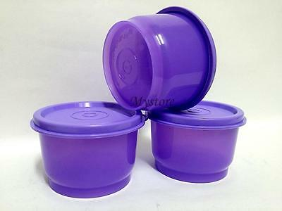 Purple TUPPERWARE SMALL ROUND SNACK CUP 110ml  BOWL SET Wave Containers