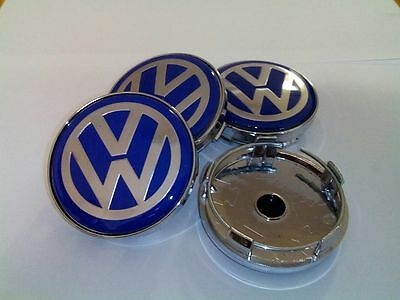 4 x 60mm Volkswagen VW Alloy Wheel Centre Hub Caps Golf Passat Polo Black
