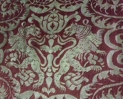 Antique Textile Panel1/10~City Of York's Mansion House~High Sheriff N Yorkshire