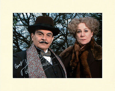 DAVID SUCHET POIROT PP 8x10 MOUNTED SIGNED AUTOGRAPH PHOTO
