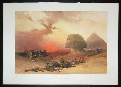 DAVID ROBERTS Approach of the Simoon, Desert of Gizeh
