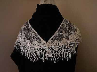 Awesome Vintage White Bobbin Lace Neck Dickey NEW