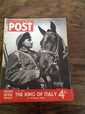 Picture Post Magazine - June 5th 1943 The King Of Italy