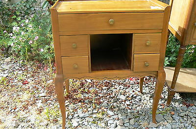 Unusual Vintage French Cherry Wood Bedside / Lamp Table Cabinet My12/283