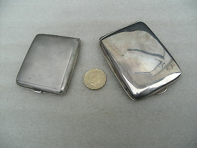 Two  Vintage Silver Desk Clock Cases