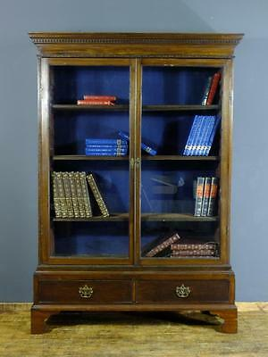 Tall Antique 19th Century Georgian Mahogany Glazed Bookcase