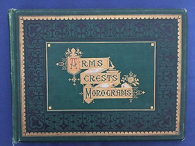Antique Victorian Album of 360 Arms, Crests and Monograms 1882
