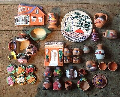 37 Pieces of Dominican Republic Pottery - Job Lot - Assorted Items