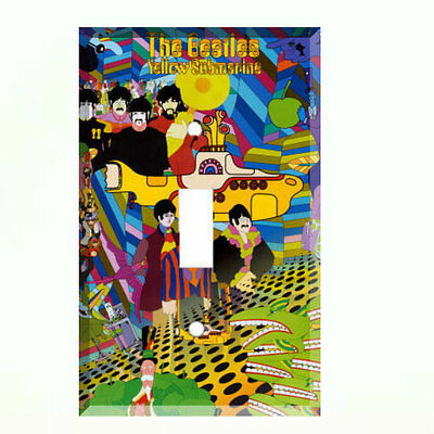 The Beatles Yellow Submarine Single Light Switch Plate Wall Cover