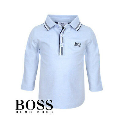 New Hugo Boss Baby Boy Elbow Patch Blue Polo J05500 Size 6M-3T AUTHENTIC