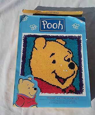 "Winnie The Pooh 13"" X 13"" Latch Hook Rug Pillow Kit 2000 / Wp0001 Pooh Bear"