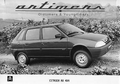 WERKFOTO PHOTO Presse  CITROEN AX 4x4   - No Brochure Prospekt