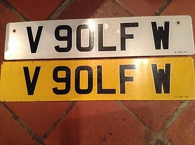 VW GOLF Private Number Plate