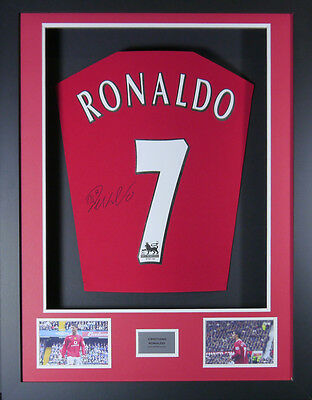 Cristiano Ronaldo Manchester United Signed Shirt Framed Display With Coa