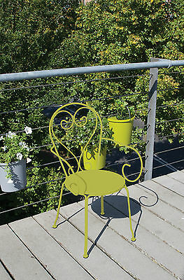Chairs, Classic Green. French ornate provincial style powder coated steel chairs