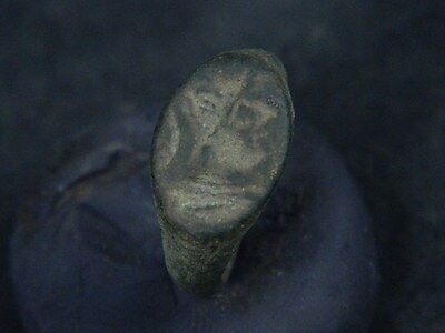 Ancient Bronze Seal Ring Bactrian 300 BC    #BR515