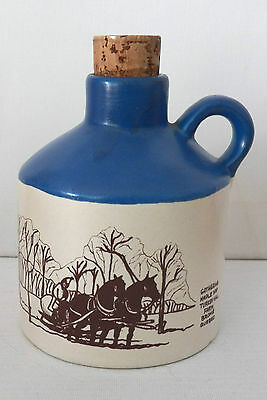 Fine Handcrafted Laurentian Pottery Maple Syrup Jug From Turkey Hill Farm Quebec