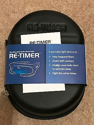 Re-Timer wearable Light Therapy Glasses for Jet lag Sleep Problems Insomnia SAD