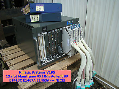 Kinetic Systems V195 13 slot Mainframe VXI Bus Agilent HP E1413C E1467A E1463A