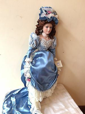 """Porcelain Doll The  Palmary Collection Victria 25"""" Limited Edition Hand Crafted"""