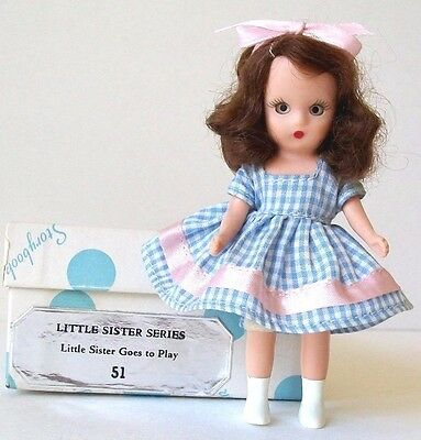 *51 Little Sister Goes To Play* Nancy Ann Storybook Doll W/ Mint Box & Pamphlet