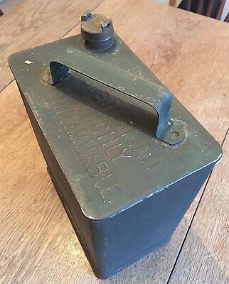 Vintage War Department Petrol Can with Solid Brass Cap