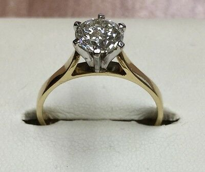 1.10 Carat Diamond Solitaire Set In 18Ct Gold With Valuation For $9250