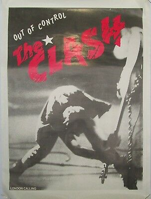 The Clash, Vintage 1984 Unofficial Out of Control MK II Tour Poster, Punk