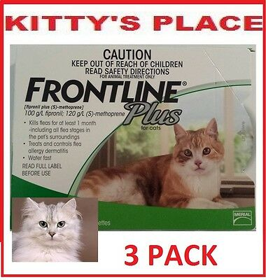 Frontline Plus Flea Treatment for Cats 3 pack