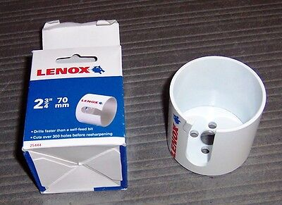 "Lenox 25441-2-9/16"" ONE TOOTH Wood Hole Cutter"