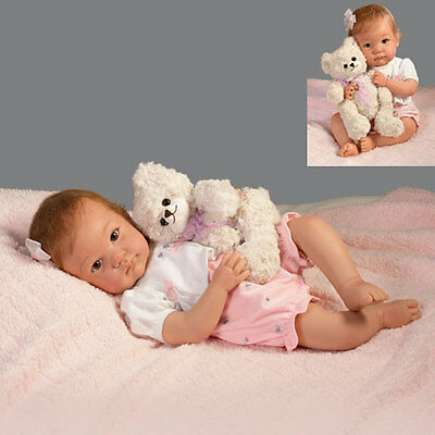 Ashton Drake - I PROMISE TO LOVE YOU TEDDY baby doll by Cheryl Hill
