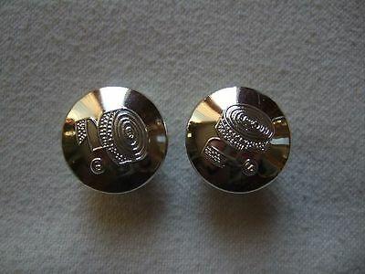 Pair Of Silver Plastic Bar End Plugs New