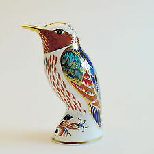 ROYAL CROWN DERBY 'Hummingbird' Paperweight, Gold Stopper, Excellent Condition