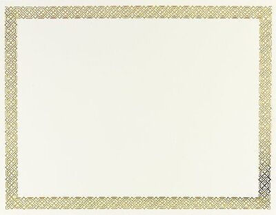 Great Papers! Braided Foil Certificate, 8.5 x 11 Inches, 12 Count (936060)